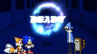 getlinkyoutube.com-TBM Mugen Match Request #3 - Sonic & Tails vs. Mordecai & Rigby