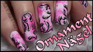 getlinkyoutube.com-Rosa Nägel mit Ornamenten einfach selber machen / Schickes Nageldesign / Chic Nail Art Design