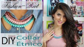 getlinkyoutube.com-DIY Collar étnico  | Fashion Riot