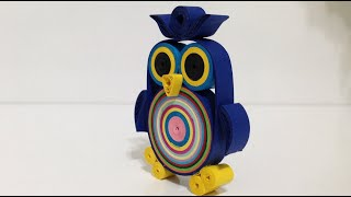 getlinkyoutube.com-Paper Quilling Necklace - Quilled Owl Necklace - For Beginners