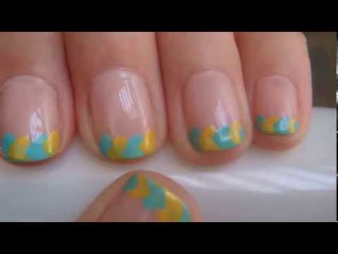 Fun Summer French Tip With A Twist for Short Nails