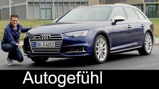 getlinkyoutube.com-Audi S4 Avant FULL REVIEW test driven V6 354 hp + Autobahn acceleration new neu 2017
