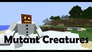 getlinkyoutube.com-Minecraft Mod | Mutant Creatures | Golem de Neve Mutante | 1.4.6