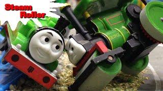 "getlinkyoutube.com-トーマス プラレール ガチャガチャ スティームローラー Tomy Plarail Thomas ""Steam Roller"""