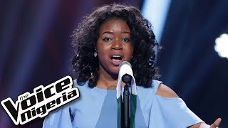 "Sandra Osamor sings ""Nigerian National Anthem"" / Blind Auditions / The Voice Nigeria Season 2"