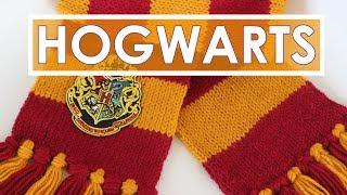 getlinkyoutube.com-How to Knit a SCARF | Harry Potter Hogwarts Halloween Knitting