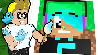 getlinkyoutube.com-Roblox / Pixel Art Creator / Minecraft in Roblox / Gamer Chad Plays