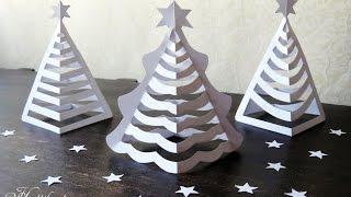 getlinkyoutube.com-Hattifant - 3D Paper Christmas Trees