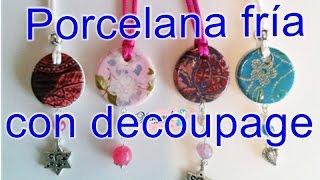 getlinkyoutube.com-Porcelana fría decorada con decoupage.Tutorial. Cold porcelain with decoupage paper