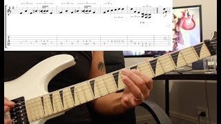 How to play 'The Shortest Straw' by Metallica Guitar Solo Lesson w/tabs