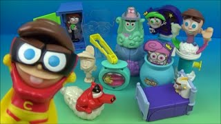 getlinkyoutube.com-2004 THE FAIRLY ODDPARENTS SET OF 10 BURGER KING KIDS MEAL TOYS VIDEO REVIEW