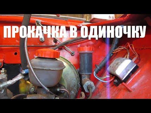 Расположение в Москвич 412 тормозного цилиндра