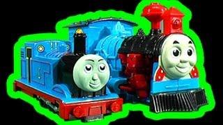 getlinkyoutube.com-Thomas Tank Dark Side Knock Off Toys Ep2 Transformer Horror Train