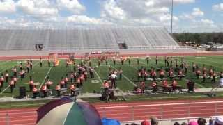 "getlinkyoutube.com-UIL 2014 Burbank Bulldog Marching Band ""Corazon de San Antonio"""