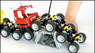 getlinkyoutube.com-Lego 16 Wheeled Monster Truck