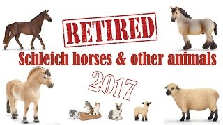 getlinkyoutube.com-Schleich retired horses & other animals 2017 ~ Collector items! [FARMLIFE]