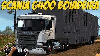getlinkyoutube.com-SAINDO DO ATOLEIRO COM A SCANIA G400 BOIADEIRA - VOLANTE G27!!!