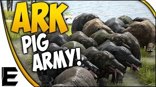 getlinkyoutube.com-ARK Survival Evolved Gameplay ➤ PHIOMIA ARMY! - PIGS EVERYWHERE!