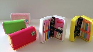 getlinkyoutube.com-DIY Doll School Supplies: pencil case & pencils