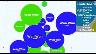 getlinkyoutube.com-Agar.io Party Mode - Playing with two Cells simultaneously