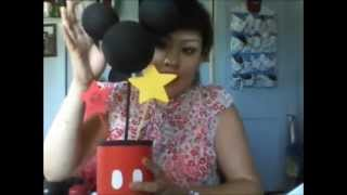 getlinkyoutube.com-DIY formula can mickey mouse centerpiece idea for first birthday party