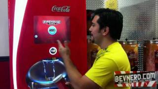 getlinkyoutube.com-Coca Cola Freestyle Soda Fountain Demonstration at Firehouse Subs Video Review: BevNerd (Ep72)