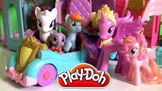 getlinkyoutube.com-Play Doh Princess Celebration Cars My Little Pony Friendship is Magic Dolls by Funtoys