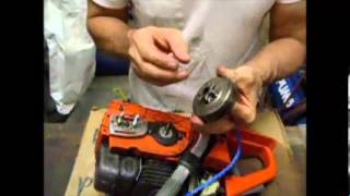 getlinkyoutube.com-Chainsaw Repair - How to repair Husqvarna Clutch and Oil Pump