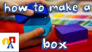getlinkyoutube.com-How To Fold An Origami Box With Lid