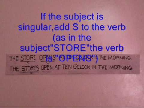 subject verb agreement -SjRM9rRBgdg