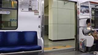getlinkyoutube.com-[FHD]KORAIL盆唐線 上葛駅 351000系 ドア開閉