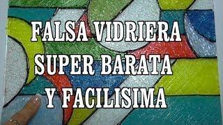 getlinkyoutube.com-DIY FALSA VIDRIERA DE SILICONA Y ESMALTE - FALSE VITRAL