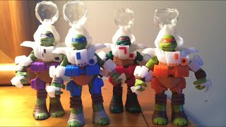 getlinkyoutube.com-Teenage Mutant Ninja Turtles Dimension X Turtles Action Figures Toy Review