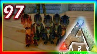 getlinkyoutube.com-ARK: Survival Evolved - BABY RAPTOR TRIPLETS / CASTLE DESIGN! S2E97 (Modded Gameplay) + Giveaway