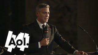 getlinkyoutube.com-George Clooney Declares His Love for Fiancee