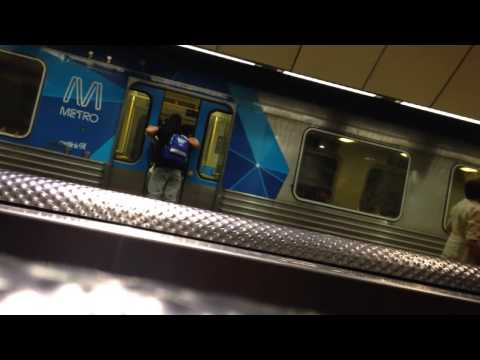 Dumb Wankers Fist Fight On Moving Train At Melbourne Central Station