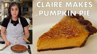 Claire Makes Brûléed Pumpkin Pie | From the Test Kitchen | Bon Appetit width=