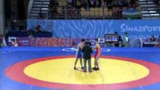 EGY VS RUS youth olympic games wrestling GR 85kg final