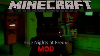 getlinkyoutube.com-FNAF MOD - El mejor mod de Five Nights At Freddy's - Minecraft mod 1.7.10 Review ESPAÑOL