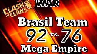 getlinkyoutube.com-BRASIL TEAM vs  MEGA EMPIRE   Clan War Nov14
