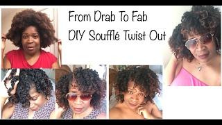 getlinkyoutube.com-From Drab To Fab Twist Out  DIY Soufflé 