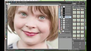 "getlinkyoutube.com-All In One Retouching Photoshop Elements Action, ""Perfect Portrait"" by Paint the Moon"
