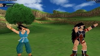 getlinkyoutube.com-Goku and Raditz Fusion (Dragon Ball Z Budokai Tenkaichi 3 Mod)