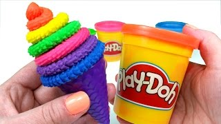 getlinkyoutube.com-Play-Doh How To Make Rainbow Ice Cream Cone
