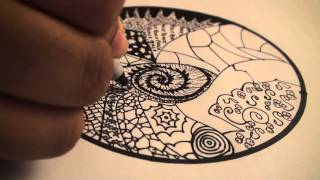 getlinkyoutube.com-Let's Draw - 001: How to Draw Zentangles (Doodle Art) DrawCartoonsEasy [HD]!