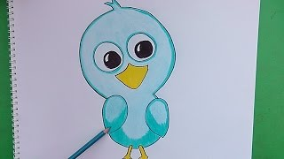 getlinkyoutube.com-Como dibujar y pintar paso a paso a Pajaro - How to draw and paint step by step Pajaro