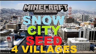 getlinkyoutube.com-MCPE 0.16.0 - SNOW CITY SEED ! 4 VILLAGES 2 SNOW VILLAGES + 2 PLAIN + WITHER BOSS