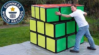 getlinkyoutube.com-Largest Rubik's Cube - Guinness World Records