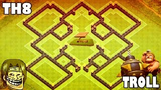 "getlinkyoutube.com-Clash of Clans ♦ ""TOWN HALL 8 (TH8) BEST TROLL+HYBRID BASE"" w/ Dark Spell Factory ♦ Tesla Traps?!"