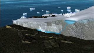 NASA Animation Showing Melting Glacial Ice Sheets in Antarctica